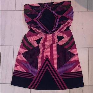 Strapless light summer dress